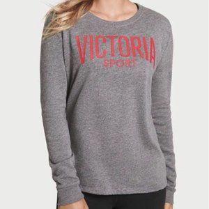 Victoria's Secret Victoria Sport Gray Red Logo Top